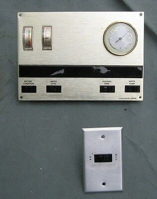 1970's Vintage RV Motorhome Monitor Display Panel & Switch 1975 Dodge Empress