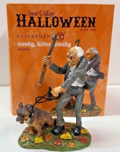 "Department 56 Snow Village Halloween ""Steady Killer Steady"""