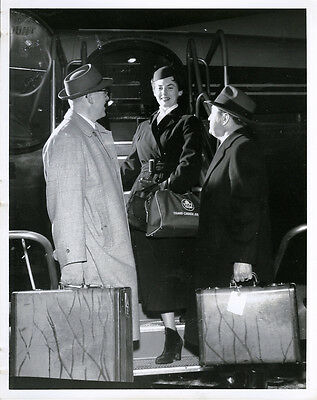 Trans Canada Airlines Stewardess    Orig 1960S Nova Scotia Tca Promo Photo