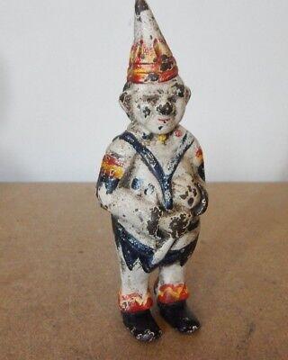 Vintage Reproduction Creepy little Clown Cast iron moneybox Piggy Bank 14 cm's