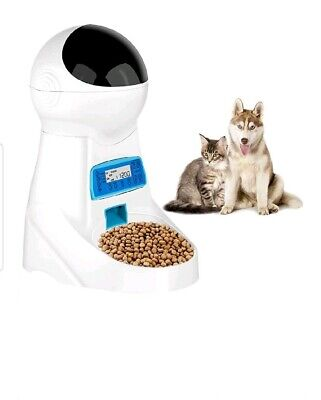 Automatic Cat Feeder Pet Food Dispenser Medium Large 4 Meal,Voice Recorder Timer