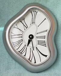 Salvador Dali Melting Clock Verichron Kirch Decor Wall Art Brushed Aluminum 13.5