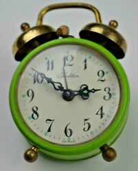 Vintage Tradition Miniature Alarm Clock West Germany Mini Antique