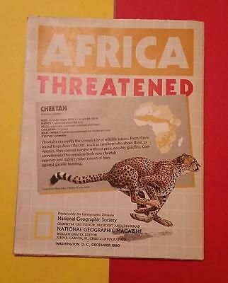 "RARE VINTAGE ""1990 NATIONAL GEOGRAPHIC MAGAZINE - AFRICA - POSTER SIZE MAP"""