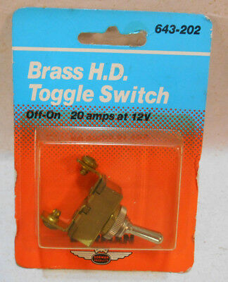 New Nos H D Dorman Car Truck Marine Brass Off On Toggle Switch 643-202