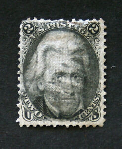 RICHNVIC:  US STAMPS -- SCOTT #93,  2c JACKSON -