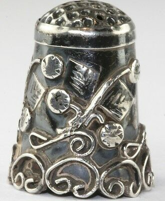 VTG MEXICAN STERLING SILVER THIMBLE