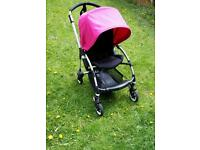 Bugaboo bee plus with pink hood in fabulous condition