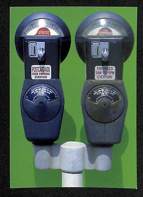 Vintage Car Parking Meter Singapore Advertisement Postcard (C1173)