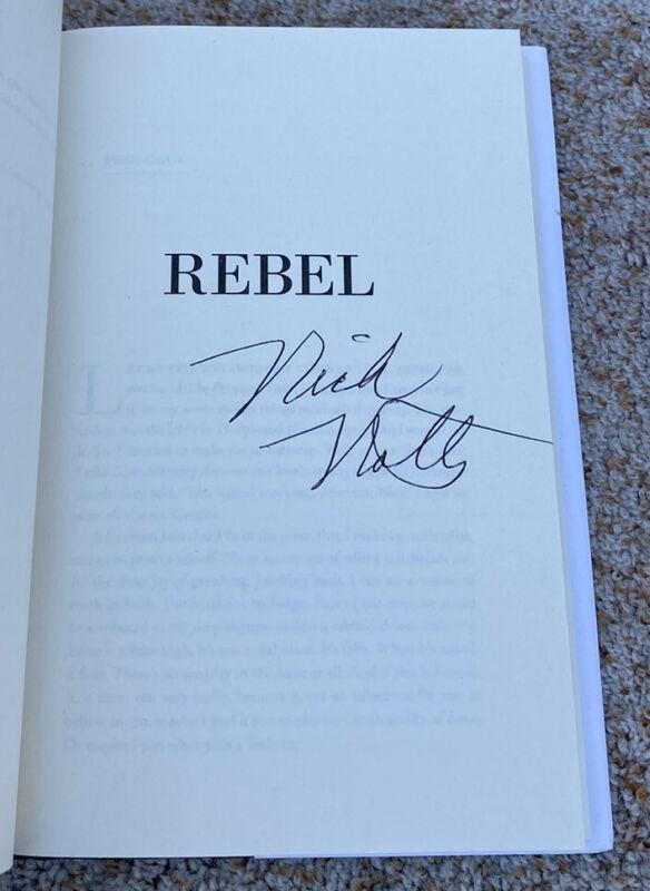 Nick Nolte Signed Book Rebel