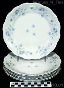 Haviland Blue Garland Salad Plates
