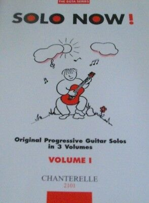 THE EGTA SERIES-SOLO NOW! VOLUME 1 MUSIC BOOK-GUITAR SOLOS IN 3 VOLUMES-NEW-SALE