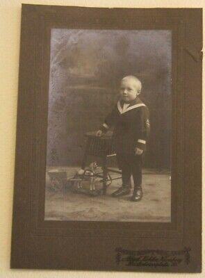 Foto junge boy kind marine uniform 1900 nürnberg Holzpferd Y4  ()