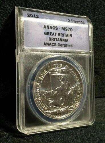 2012 BRITANNIA ANACS MS 70 GREAT BRITAIN 1 Oz SILVER Coin