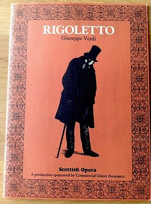 SCOTTISH OPERA - RIGOLETTO - Vintage Progamme (1980)