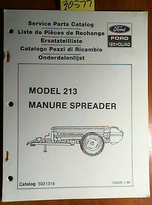 New Holland 213 Manure Spreader Service Parts Catalog Manual 5021316 190