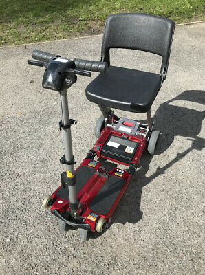 LUGGIE RED ECO Folding Travel Mobility Boot Scooter With Charger