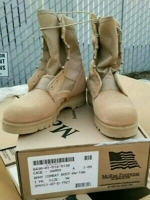 McRae Army Combat Boot Hot Weather Tan Cage 3A059.Size 10R,10.5R, 9W &10 Wide.