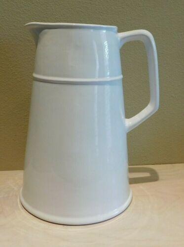 "Restoration Hardware GIANT Pitcher White 12"" Tall Ceramic Portugal 10 Pints"