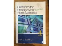 Statistics for People who (think they) Hate Statistics 4th edition, Salkind 2011