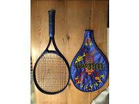 Wilson Rakattak 25 oversize short handled tennis racket and case