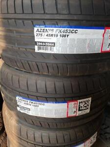 275/45R19 FALKEN AZENIS FK453CC BRAND NEW SET ALL SEASON TIRES 275/45/R19 WHEELS 275 45 19