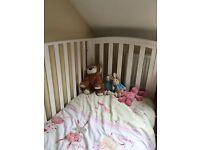 Cot/ Toddler Bed White Mamas & Papas