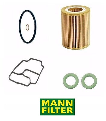 BMW Oil Filter Kit MANN and Housing Stand Gaskets Ajusa E39/E46 ++ M54