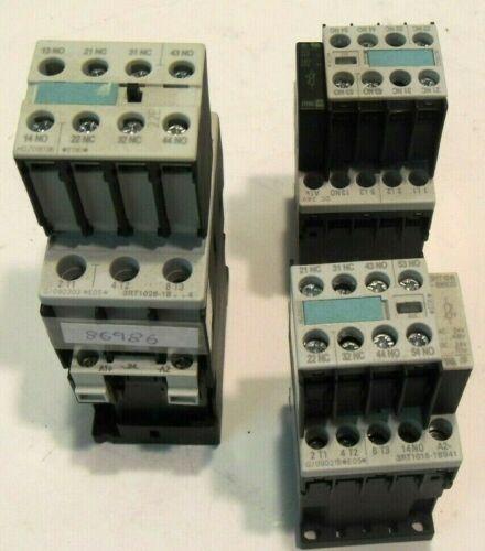 Siemens Lot Of 3 Contactors (2) GB14048.4-2003 (1) GB14048.4