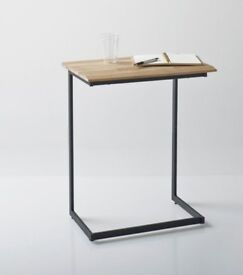 Brand New & Unopened : Hiba Solid Joined Walnut and Steel Occasional Table La redoute