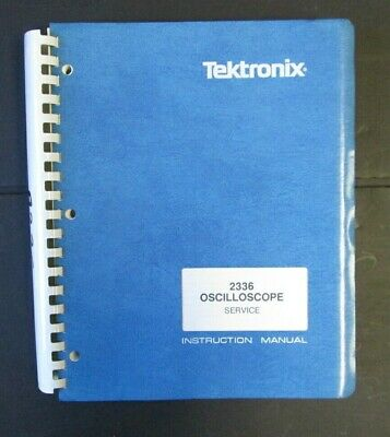 Tektronix 2336 Service Manual With Schematics. Original Book