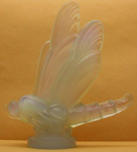 Vintage France Sabino Dragonfly Opalescent Crystal Figurine