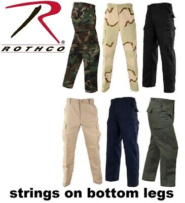 Army Camouflage Solid 6-Pocket Military Tactical Rip-Stop Cargo Pants BDU Pants ()