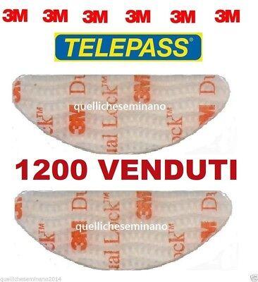 2 pezzi 3m DUAL LOCK BI ADESIVO adesivi per telepass ORIGINALi- SJ3560 sagomati