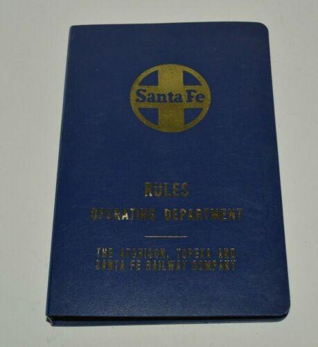 Vintage 1975 Santa Fe Railway Co Rules Operating Department Manual Rare