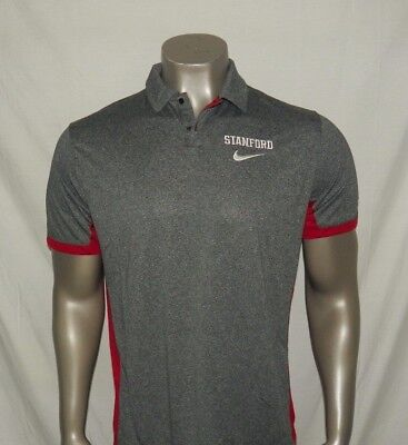 Stanford Cardinal Nike Dri Fit Performance Polo New