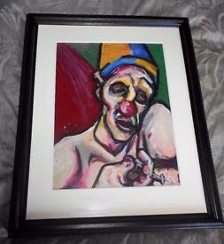 Kevin O'Rorke Original Pastel - Death Of A Clown