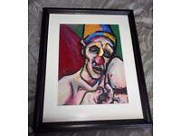 Kevin O'Rorke Original Pastel - Death Of A Clown