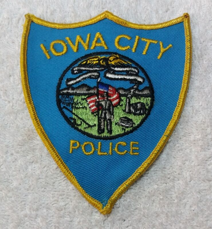 Vintage Iowa City Police Department Shoulder Patch