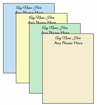 4-pack Multi-color Personalized Notepads 14-page 4.25 X 5.5 Memo Scratch Pads