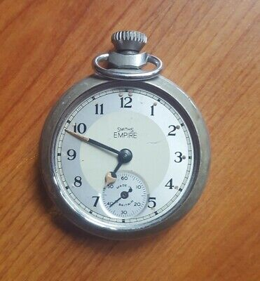 Vintage Smiths Empire Pocket Watch For Repairs