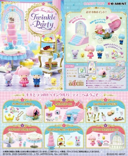 Re-ment Miniature Sanrio Little twin stars Twinkle Party 800YEN rement Full set