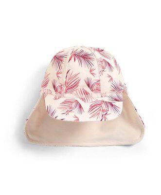NEW Mamas and Papas Girls Pink Leaf Design Sun Swim Hat 6-9 Months