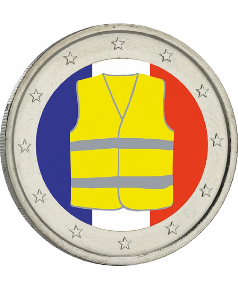 2 euros france  2018  gilets jaunes série limitée nouveau !!!!!!!!!!!!!!!!!!!!!!