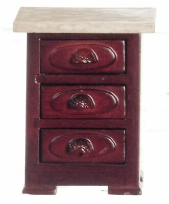 Dollhouse Miniature Victorian Night Stand in Mahogany