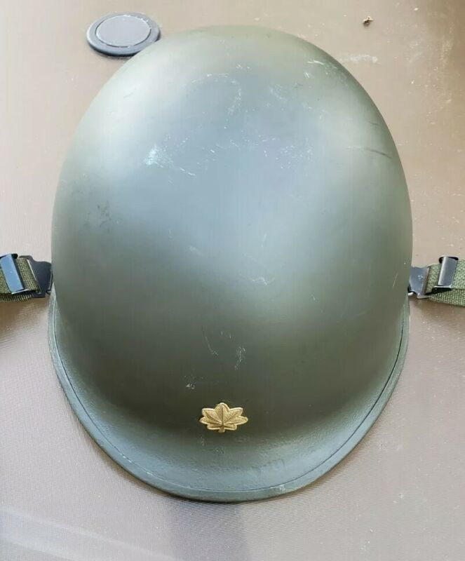 US Army Vietnam M1 Helmet & Liner Complete, Lt Colonel Insignia FREE SHIPPING