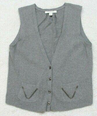 Solid Sweater Vest - Sweater Vest Banana Republic Gray Cotton Nylon Rabbit Cardigan Solid Size Small