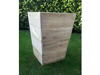 Large Rustic Tapered Double Use Planter, Choice of Stains Available.