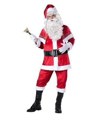 Santa Costume Adult Extra Large Santa Claus Suit Christmas Fancy Dress NEW