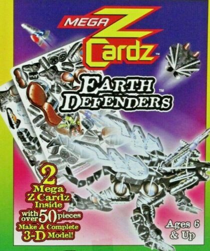 "3-D Model Kit Robolion Mega Z Cardz Earth Defenders 50 pieces 6"" x 4"" NEW"